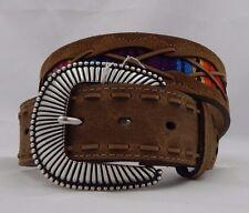 Tony Lama SOUTHWEST PONCHO Leather  Belt Size 34  NWT  C42035