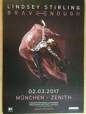 LINDSEY STIRLING 2017 MÜNCHEN  ++ orig.Concert Poster -- Konzert Plakat  A1 NEU