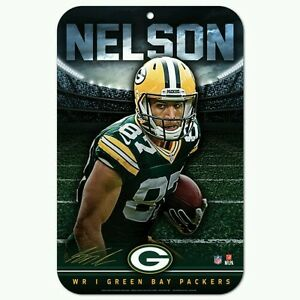 JORDY NELSON GREEN BAY PACKERS 11x17 PLASTIC SIGN DURABLE POSTER FREE SHIPPING
