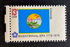 US Stamps, Scott #1673 13c State Flags: Montana XF M/NH. PO fresh.