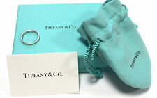 Pre Owned Tiffany Platinum Ring with Diamonds 3mm  WOW
