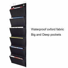 Hanging Cascading Fabric File Organizer Large Pocket Chart 2 Hooks Wall Mounted