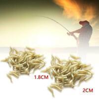 50Pcs Carp Fishing Bait Accessories Hook Sleeve Hair Soft Sleeves Rig Align Z9C0