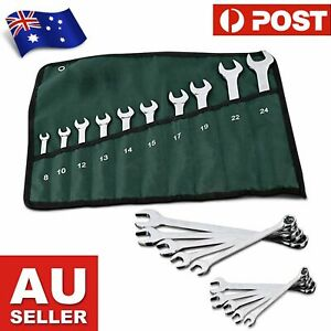 10-piece Professional Dual Purpose Durable Steel Wrench Open Ended and Closed Ri