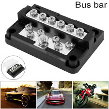 12 Terminal Bus Bar 100A Wire Block Ground Distribution Car Truck Rv Boat Kit