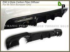 Carbon Fiber V-Style Rear Bumper Diffuser 06-11 BMW E90 325i 328i 330i 335i 4Dr