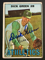 Dick Green A's Atheltics signed 1967 Topps baseball card #54 Auto Autograph