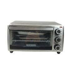 Black+Decker Stainless Steel Countertop Toaster Oven Baking Very Clean!