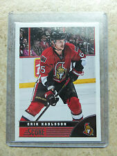 13-14 Panini Score #345 Alternate Red-Back SSP Parallel ERIK KARLSSON