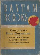 AGATHA CHRISTIE MYSTERY OF THE BLUE GERANIUM 1940 RARE L.A. BANTAM PB SERIES #26