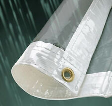 2.0m x 2.0m Metre 310gsm Waterproof Glass Clear Tarp Tarpaulin Ground Sheet