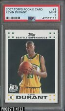 2007 Topps Rookie Card #2 Kevin Durant Supersonics RC Rookie PSA 9 MINT
