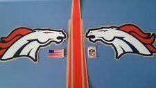 Denver Broncos football helmet decals set