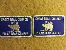 Vintage Boy Scouts merit badge Great Trail Council, Polar Bear Camper