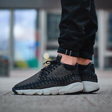NIKE AIR FOOTSCAPE WOVEN CHUKKA SE Trainers - UK 12 (EU 47.5) Wool & Denim Black