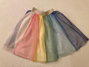 Hanna Andersson Girls 110 Rainbow Tutu Midi EUC