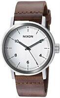 Nixon A11942092 Men's Stark Leather Silver Dial Brown Strap Watch