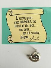 WDCC Disney The Little Mermaid Sterling .925 Silver Sea Shell Charm