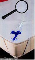 Wasserundurchlässige Frottee Inkontinenzauflage Matratzenauflage, weiß ohne PVC