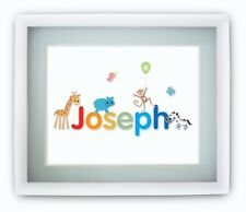 Personalised Childrens Babies Jungle Name Picture Print Boys Girls SMALL