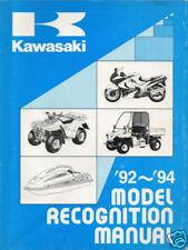 1992-94 Kawasaki Motorcycle Atv Recognition Manual