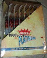 2003-04 03-04 FLEER PLATINUM NBA RACK BOX-DWYANE WADE/LeBRON JAMES/CHRIS BOSH RC