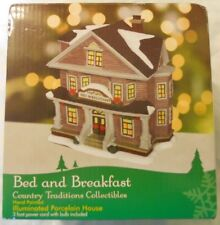 Traditions Collectibles Hand Painted Illuminated Porcelain House Bed & Breakfast