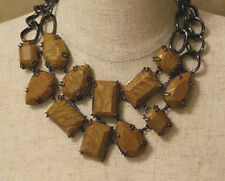 BCBG MAXAZRIA  ABSTRACT NATURE STONES  STATEMENT NECKLACE