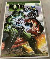 WORLD WAR HULK #1 John Romita Jr Variant Marvel Comic Book 1:15 Signed Greg Pak