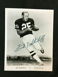 FRED BILETNIKOFF SUPERBOWL MVP SIGNED 8 X 10 PICTURE WITH CERT.