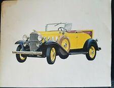 VINTAGE - Chevrolet  Dealer Antique Auto Art Print 11x14 1932 Chevy Sport Roadst