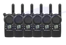 Motorola CLS1410 UHF Two Way Radio 6 PACK with Batteries and Belt Clips