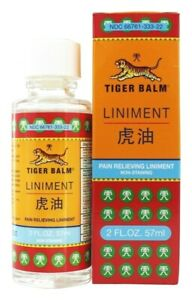 12 pcs of Tiger Balm Liniment Pain Relieving 2 oz/ 57 ml + FREE 5 PAIN PATCH