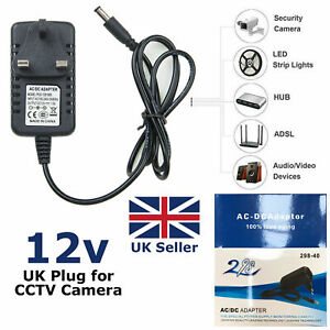 Adapter DC 12V 1A Charger Wall Plug Universal 12 Volt 1A Switching Power Supply