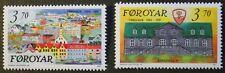 125th anniversary of Torshavn as capital stamps, Faroe Islands SG ref:208 & 209