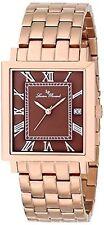 NEW Lucien Piccard 10501-RG-44 Men's Bianco Brown Dial Rose Gold Bracelet Watch