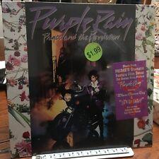 PRINCE LP PURPLE RAIN 1984 1ST  PRESSING W/HYPE STICKER SEALED Poster