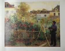 """CLAUDE MONET PAINTING IN HIS GARDEN AT ARGENTENUIL"" By Claude Monet"