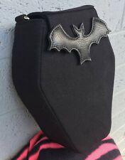 Sweet Midnight Coffin Bat Black Horror Punk Goth Vegan Fanny Pack Backpack Bag
