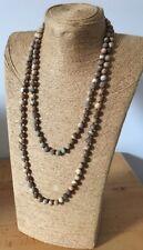 Fashion semi precious long knot 6-8 mm Picture Jasper Stones Necklace woman Gift