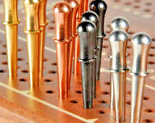 """Cribbage Pegs 12-Classic 1/8"""",  3 ea. Brass,Copper, Stainless, Black; USA a"""