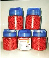 1000 pcs airsoft PaintBall Pellets 6mm for BB Guns in Blood Red