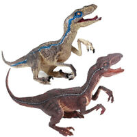 Blue Velociraptor Raptor Figure Action Dinosaur Model Animal Collector Toy Gift