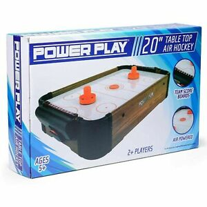 POWER PLAY TABLE TOP AIR HOCKEY GAME, 20 INCH-Compact&Classic-Fast&Free Delivery