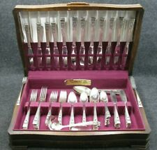 88 Piece Set Oneida Community Coronation Silverplate 1936 Dinnerware Flatware