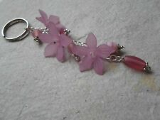 Handmade Handbag Charm ~ Clover flowers and Glass Charms