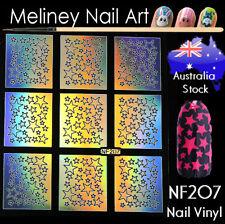 NF207 Stars Nail Vinyl Sticker decoration Stencil Vinyls Art Craft Supplies