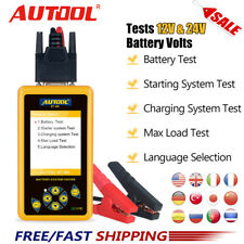 AUTOOL BT460 12V 24V Car Battery Tester Analyzer Truck Heavy Charging System