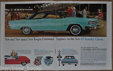 1965 RAMBLER CLASSIC 2-page advertisement, Turquoise two-door hardtop