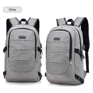 Unisex Anti Theft Waterproof Backpack USB Charge Travel Laptop Business